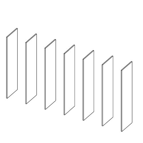 Immagine di Cabina armadio 6 Vani: Disegna in libertà cominciando da sette montanti