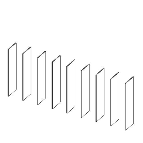 Immagine di Cabina armadio 8 Vani: Disegna in libertà cominciando da nove montanti