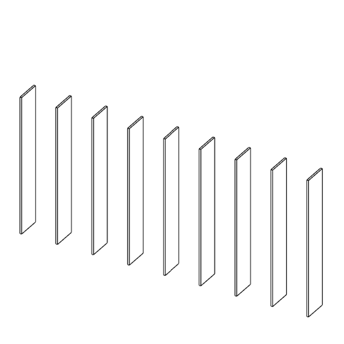 Immagine di Libreria 8 Vani: Disegna in libertà cominciando da nove montanti